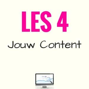LES 4 - Mini-cursus SEO - Jouw content