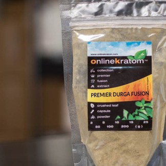 A custom blend of kratom powder that make the Durga Fusion