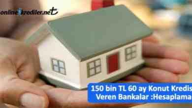 Photo of 150 bin TL 60 ay Konut Kredisi Veren Bankalar : Örnek Hesaplama