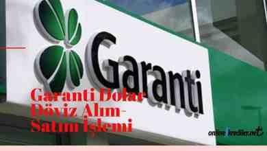 Photo of Garanti Bankası Dolar Döviz Alım Satım İşlemi