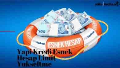 Photo of Yapı Kredi Esnek Hesap Limit Yükseltme