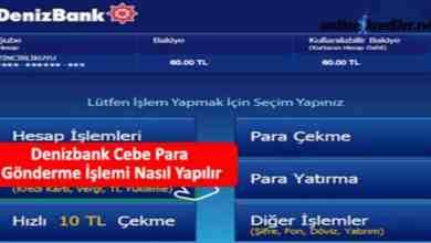 Photo of Denizbank Cebe Para Gönderme İşlemi Nasıl Yapılır