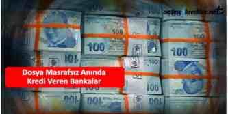 dosya masrafsiz aninda kredi veren bankalar