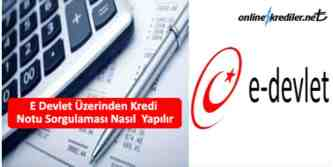 e devlet kredi notu sorgulama