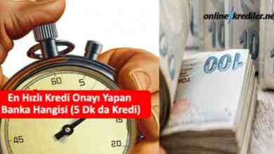 Photo of En Hızlı Kredi Onayı Yapan Banka Hangisi (5 Dk da Kredi)
