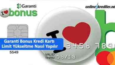 Photo of Garanti Bonus Kredi Kartı Limit Yükseltme Nasıl Yapılır