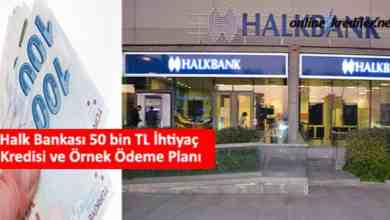 Photo of Halk Bankası 50 bin TL İhtiyaç Kredisi ve Örnek Ödeme Planı