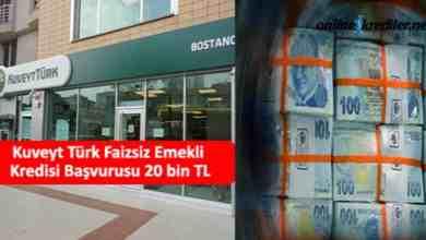 Photo of Kuveyt Türk Faizsiz Emekli Kredisi Başvurusu 20 bin TL