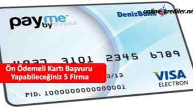 Photo of Ön Ödemeli Kart Önerisi İçin 5 Firma
