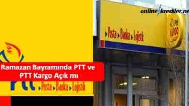 Photo of Ramazan Bayramında PTT ve PTT Kargo Açık mı (25-26 Mayıs)