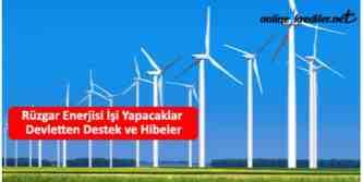rüzgar enerjisi teşvikleri