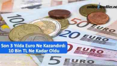 Photo of Son 3 Yılda Euro Ne Kazandırdı 10 Bin TL Ne Kadar Oldu