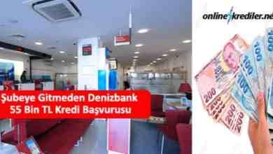 Photo of Şubeye Gitmeden Denizbank 55 Bin TL Kredi Başvurusu