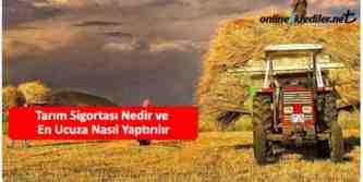 en ucuz tarım sigortası