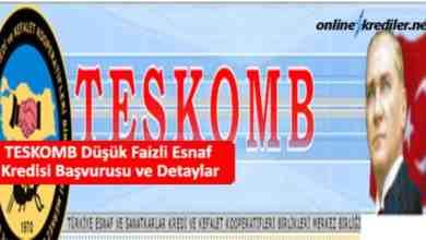 Photo of TESKOMB Düşük Faizli Esnaf Kredisi Başvurusu ve Detaylar