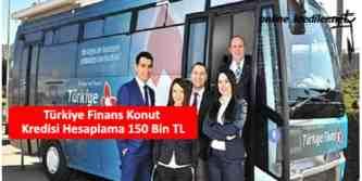 türkiye finans 150 bin tl konut kredisi hesaplama
