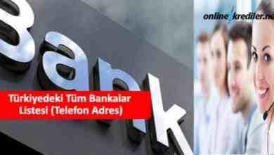 Photo of Türkiyedeki Tüm Bankalar Listesi (Telefon Adres)