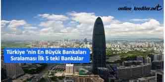 türkiyenin en büyük 5 bankası