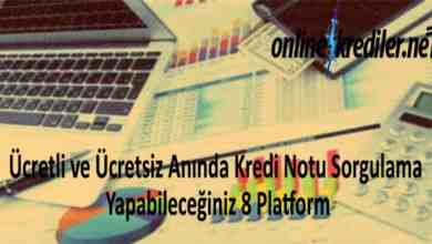 Photo of Ücretli-Ücretsiz Anında Kredi Notu Sorgulama 8 Platform