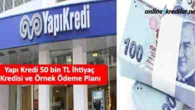 Photo of Yapı Kredi 50 bin TL İhtiyaç Kredisi ve Örnek Ödeme Planı