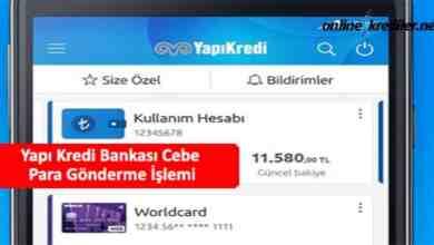 Photo of Yapı Kredi Bankası Cebe Para Gönderme İşlemi (Kolay Yöntem)
