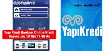 yapı kredi online kredi başvurusu