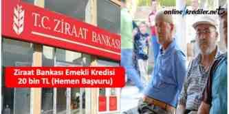 ziraat bankasi emekli kredisi