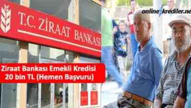 Photo of Ziraat Bankası Emekli Kredisi 20 bin TL (Hemen Başvuru)