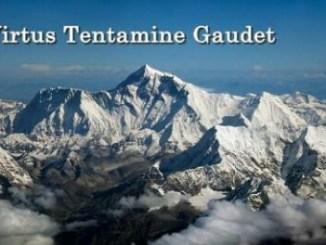 """Gaudet Tentamine Virtus: """"Dalam Cobaan Kebajikan Itu Membuat Orang (tetap) Gembira"""""""