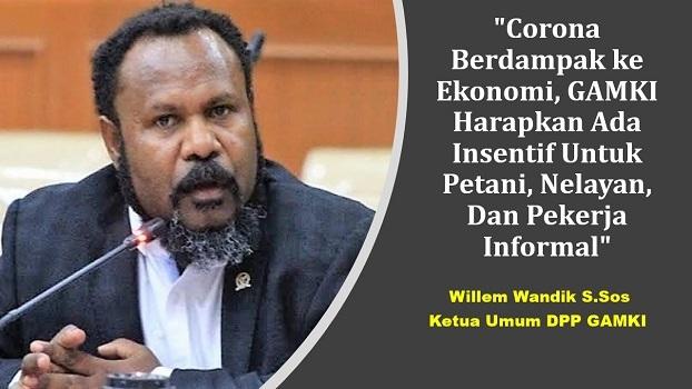 Ketum DPP GAMKI Willem Wandik S.Sos