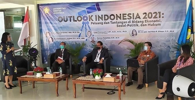 UKI Gelar Diskusi Outlook Indonesia 2021, Peluangan dan Tantangan Ditengah Pandemi Covid