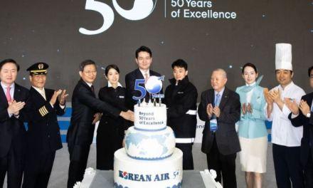 Korean Air Celebrates 50 Years, Looks Ahead To Reaching 100-Year Milestone