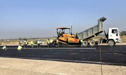 Blacktopping Of Gautam Buddha International Airport'S Runway Begins