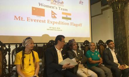 Three-nation women Everest expedition