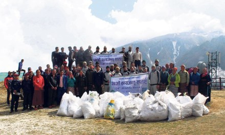 Nepal Army lifted 2 tonnes of garbage from the Everest region