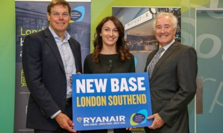 RYANAIR OPENS LONDON SOUTHEND BASE 3 AIRCRAFT, 14 ROUTES & 1M CUSTOMERS