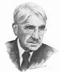 John Dewey, Psychologist and Education Reformer. Advocate for experiential and occupational education where students learn culturally relevant skills.