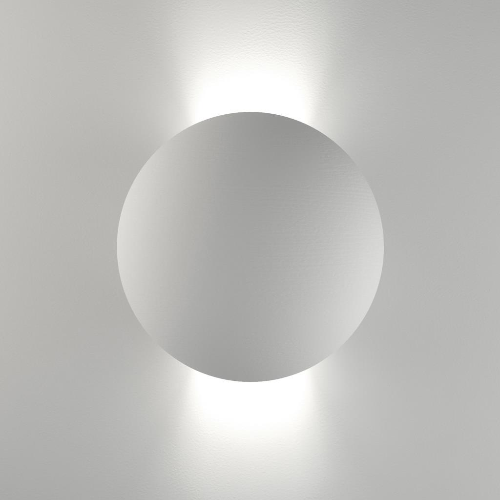 Belfiore Round 240V G9 Raw Ceramic Wall Uplight 11080