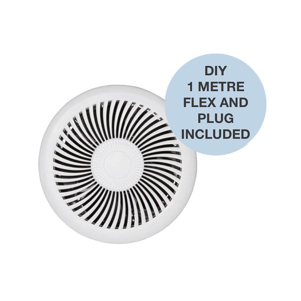 jet round exhaust fan small white mxfj25w
