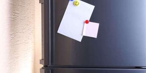 Kühlschrank-Magnet als Pinnwand