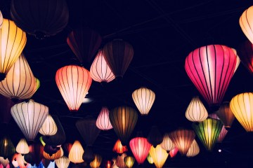 Lampions und Dekoration: Reispapierlampen