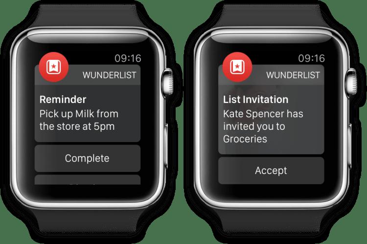 wunderlist apple watch app