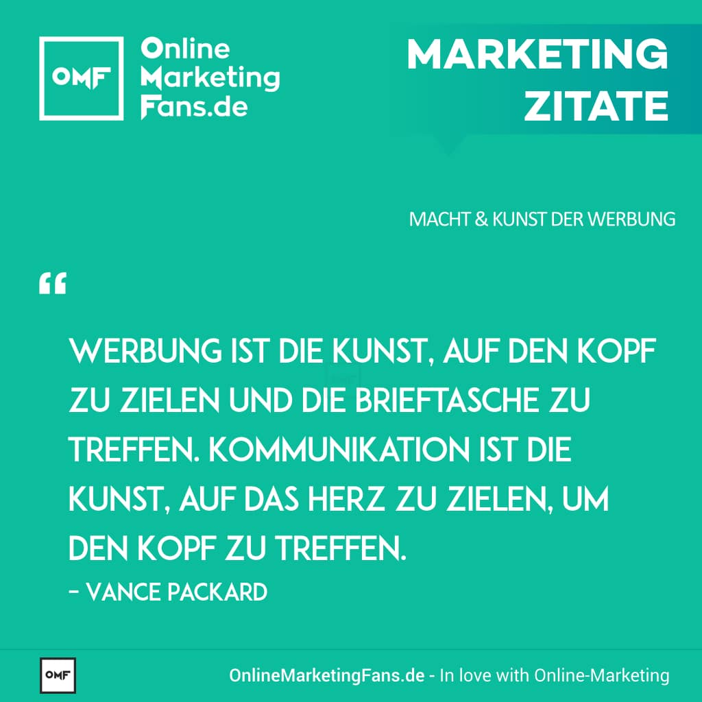Marketing Zitate Sprueche Vance Packard Unterschied