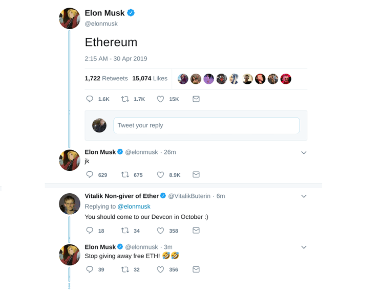 bitcoin, bitcoin price, ethereum, Elon Musk, dogecoin, twitter image