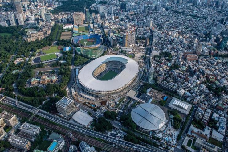 New National Stadium and the Tokyo Metropolitan Gymnasium