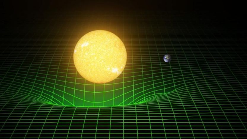Countless scientific tests of Einstein's general theory of relativity have been performed, subjecting the idea to some of the most stringent constraints ever obtained by humanity. Einstein's first solution was for the weak-field limit around a single mass, like the Sun; he applied these results to our Solar System with dramatic success. We can view this orbit as Earth (or any planet) being in free-fall around the Sun, traveling in a straight-line path in its own frame of reference. All masses and all sources of energy contribute to the curvature of spacetime.