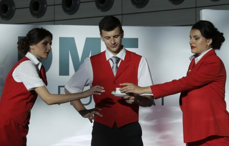 DME Runway fashion show at Domodedovo Airport