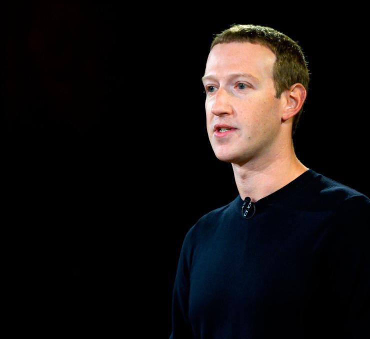 Facebook founder Mark Zuckerberg speaks at Georgetown University Washington, DC on October 17, 2019.