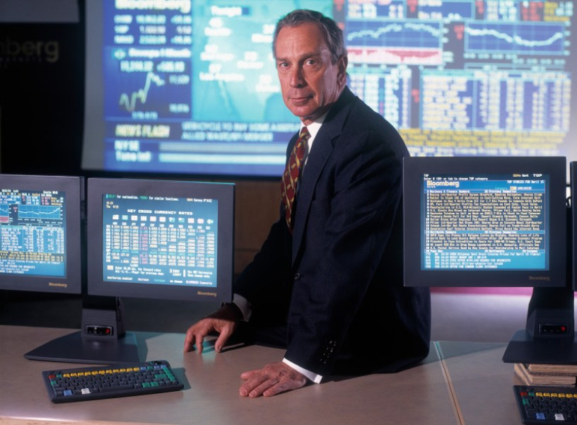 Bloomberg, president and founder of Bloomberg Financial Markets, poses for a portrait, circa 1995.