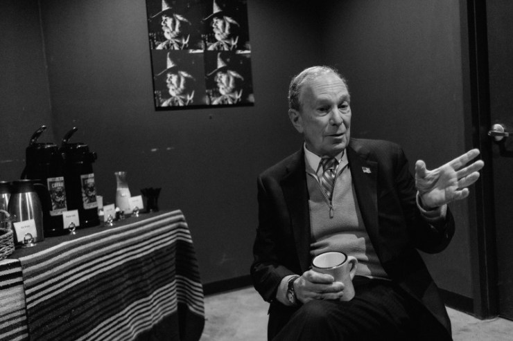 Bloomberg speaks during an interview with TIME in Houston on Feb. 27.
